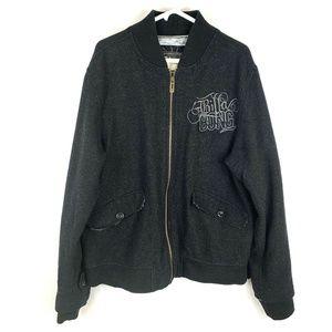 Vintage Billabong Wool Black Bomber Jacket Men XL
